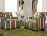 Ace Striped Accent Chair Image 2