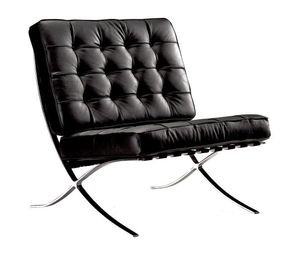Marco Black Leather Accent Chair 1