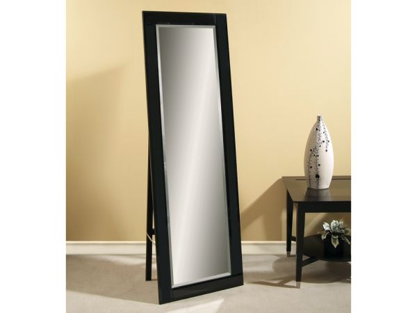 Beveled Black Cheval Mirror 1