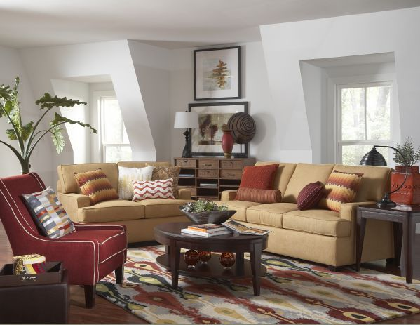 Cruze Sofa with Flannery Accent Chair 1