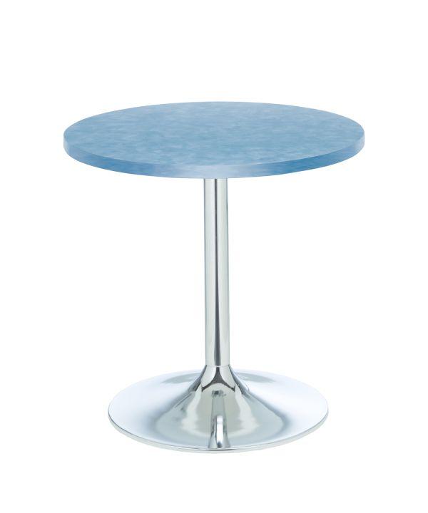 Cafe Table Brushed Blue