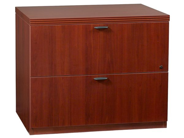 The 70's Series 2-Drawer Lateral File offers modular freedom and executive status style. A rich c...