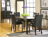 Dakota Sky Line Rectangle Dining Room with 4 Belvedere Chairs Image 75