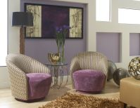 Genevieve Petite Swivel Accent Chairs