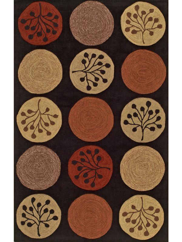 Toned Circles Area Rug