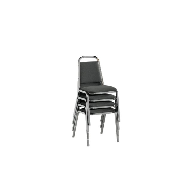 HON Armless Grey Stack Chair