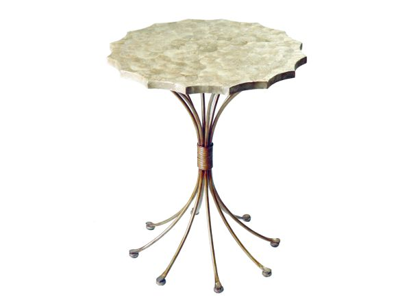 Capiz Shell Accent Table