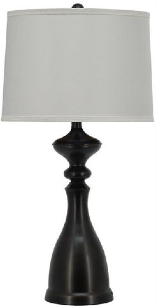 Dark Bronze Bottle Table Lamp