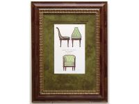 Chaise Et Fauteuil Framed Artwork Image 2