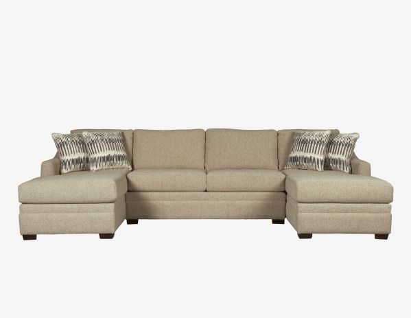 Ballard Armless Loveseat with RAF and LAF Chaises 1
