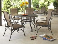 Santa Barbara Outdoor Dining Table and Four Chairs Image 6