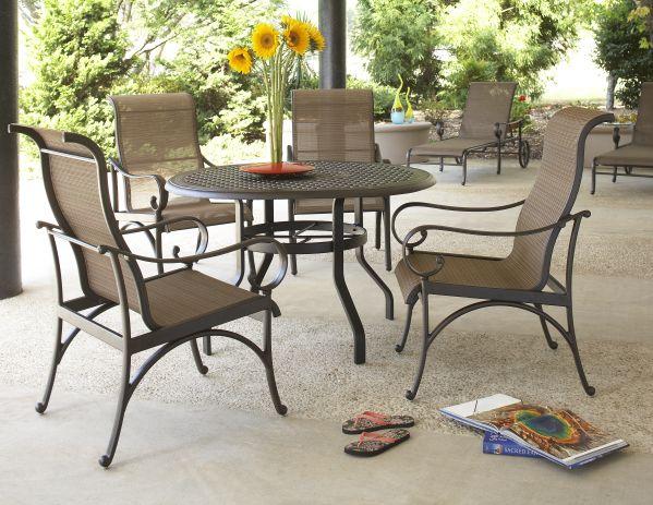 Santa Barbara Table and Sling Chairs