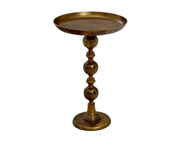 Murray Accent Table Antique Gold 1