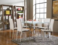 Slim Dining Table with Arcane Chairs Image 12