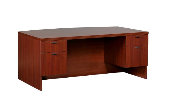 Lacasse 70s Series Executive Bow Desk