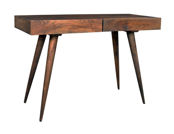 The Anlyal Desk boasts a mid-century modern design. This classy piece provides valuable surface w...