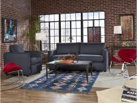 Boasting chic blue denim fabric and a stylish silhouette, the Levi Sofa is the per... Image 2