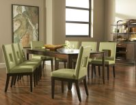 Boulevard Rectangular Dining Room with 4 Sage Chairs