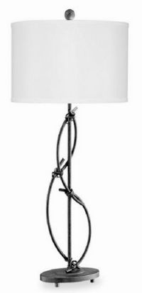 Twisted Rustic Metal Table Lamp Image 16