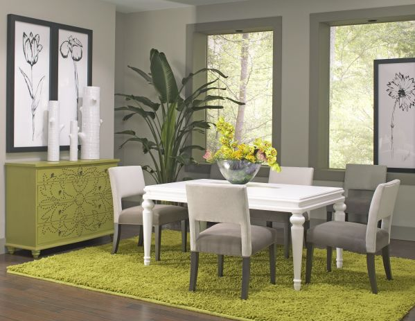Bianca Dining Room with 4 Eve Chairs