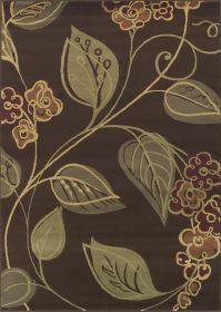 Carlisle Chocolate Leaves Area Rug Image 13