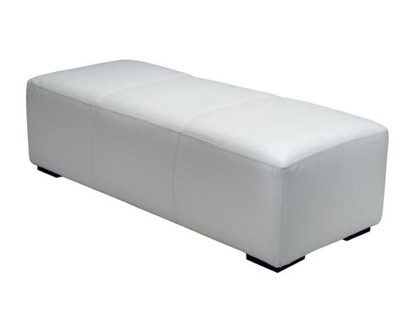 White Bench Ottoman