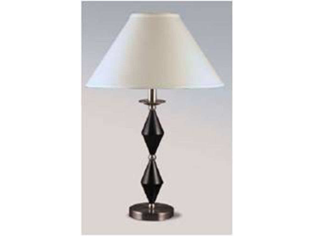 Cort richmond tx table lamp black diamond dress up your - Black table lamps for living room ...