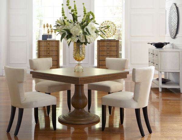 Kinsley Square Dining Room with 4 Aventura Chairs