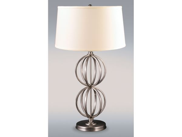 Silver Gyro Table Lamp