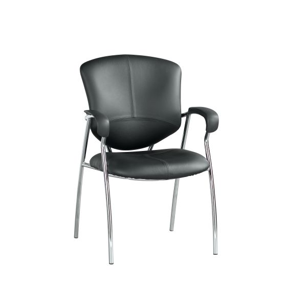 Karizma Black Leather Guest Chair