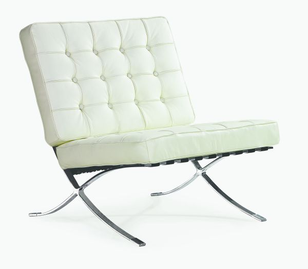 White Leather Marco Chair 1