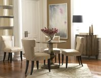 Gold Tone Round Dining Room with 4 Chairs Image 9
