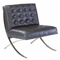 Black Leather Marco Chair Image 7