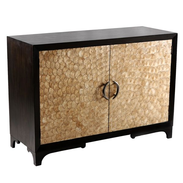 Modern Cabinet Capiz Shell 2 Drawer