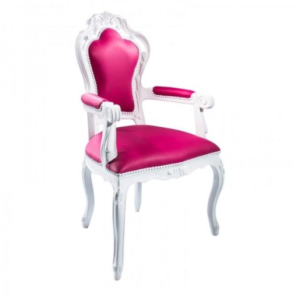 Napoleon Arm Chair Pink