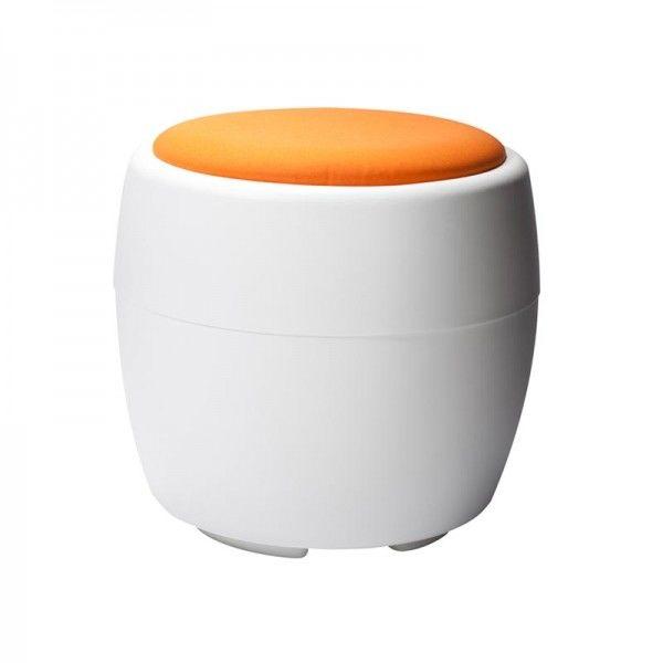 Orange Candy Ottoman 1