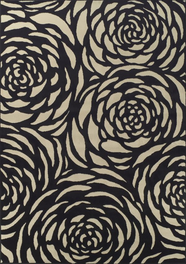 Black and White Area Rug 1