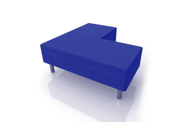 Blue Soho Sectional Ottoman 1
