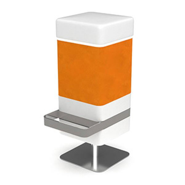 Odyssey Bar Stool Orange 1