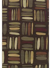 Carlisle Squares Chocolate Rug
