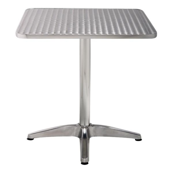 Al Fresco Square Silver Table