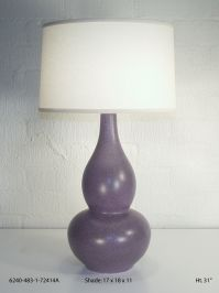 Eggplant Mica Table Lamp Image 16