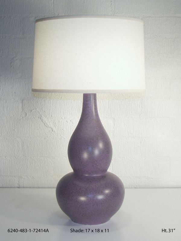 Eggplant Mica Table Lamp