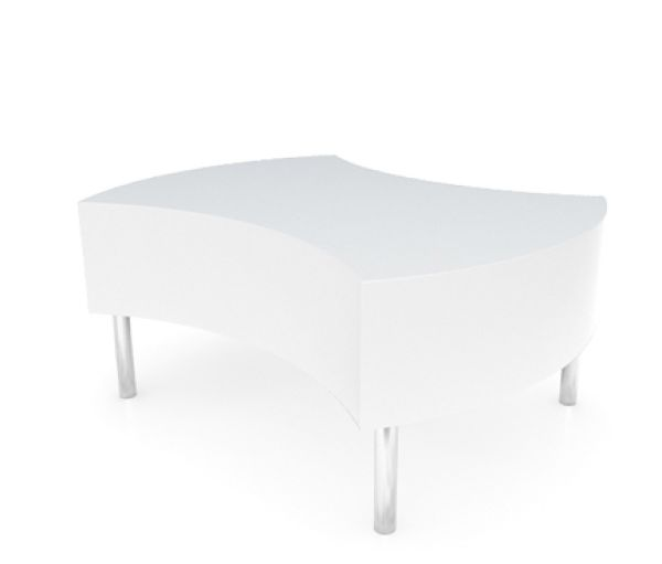 Curve Link Table White