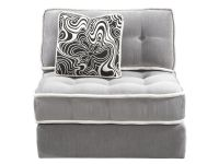 Armless Lounge Chair Gray Image 7