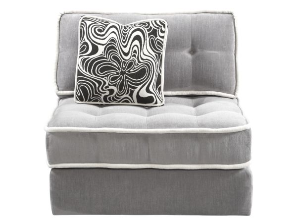 Armless Lounge Chair Gray 1