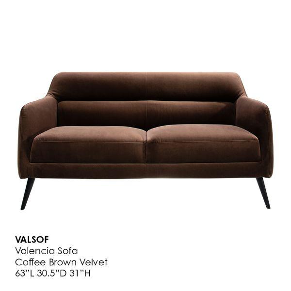 Valencia Brown Sofa 1