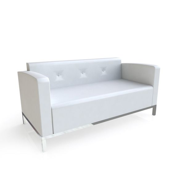 Seville White Sofa
