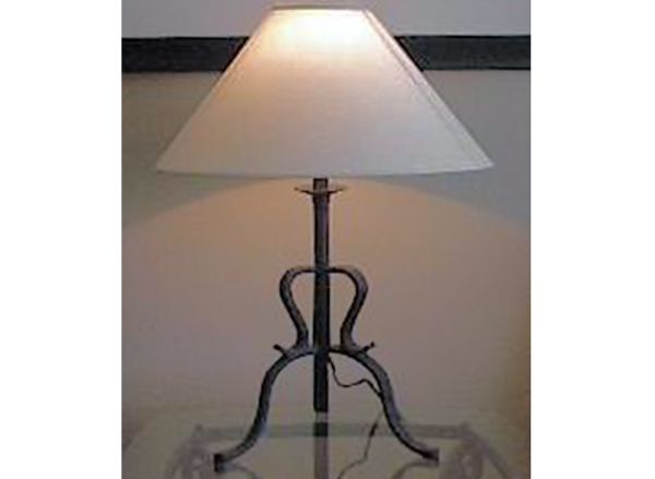 Old Iron Table Lamp