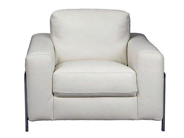 Fregene White Leather Chair